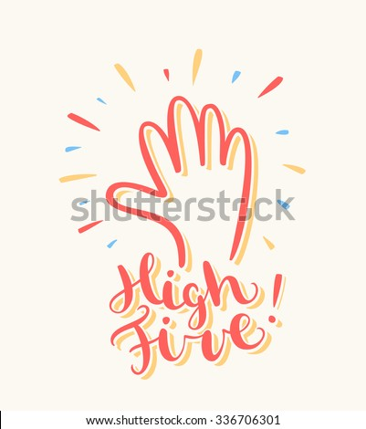 high five  greeting card.