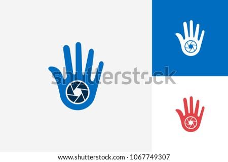 high five hand camera logo