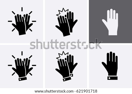 high five icon set. vector...