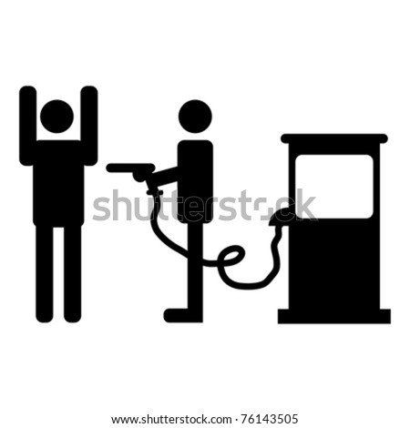 High gas prices representation over white background
