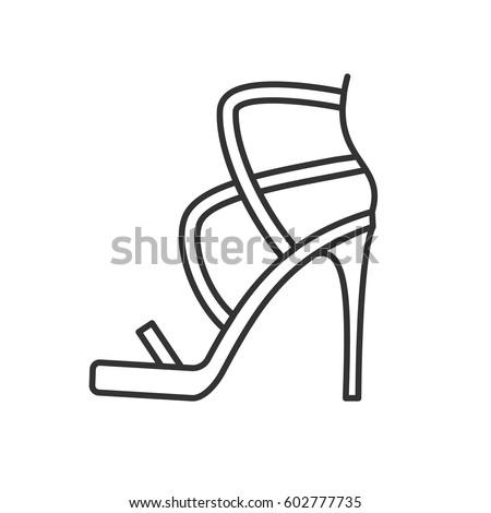 high heel shoe free vector  123freevectors
