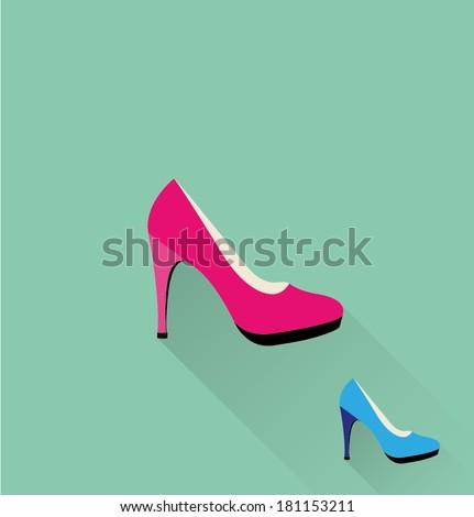 high heel woman shoes