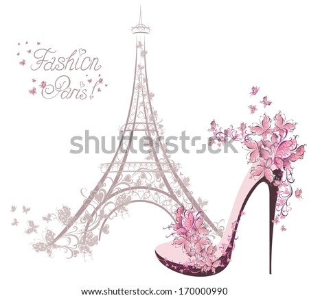 high heeled shoes on the