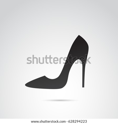 High heels icon isolated on white background. Vector art.