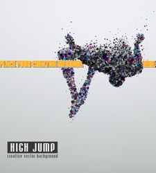 High jump. Creative vector Illustration. Eps 10.