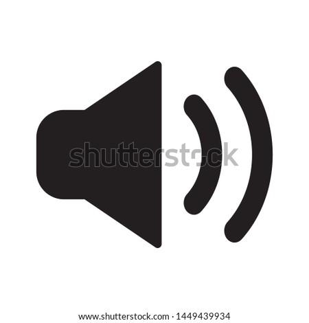 High loud, speaker, volume icon