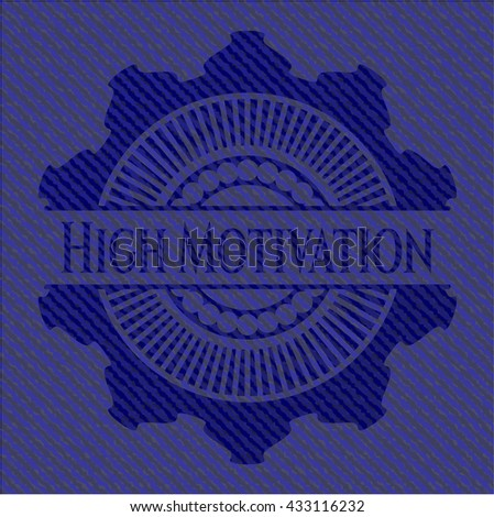 High Motivation denim background