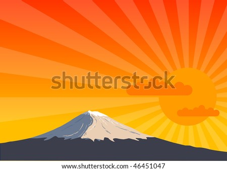 high mountain by the sunshine