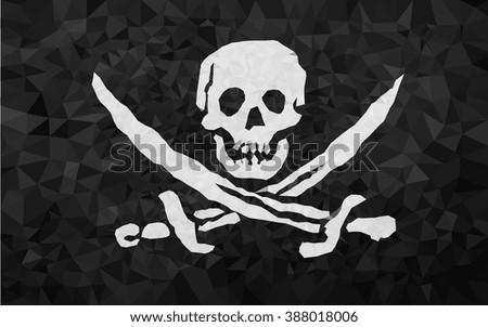high polly pirat flag in eps 8