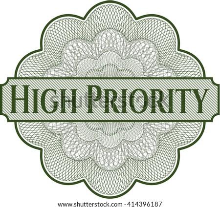 High Priority rosette