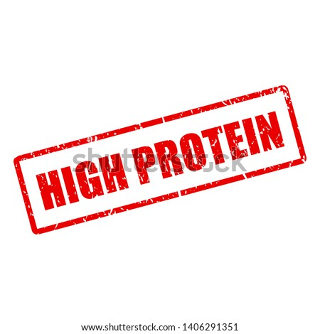 High protein vector stamp isolated on white background