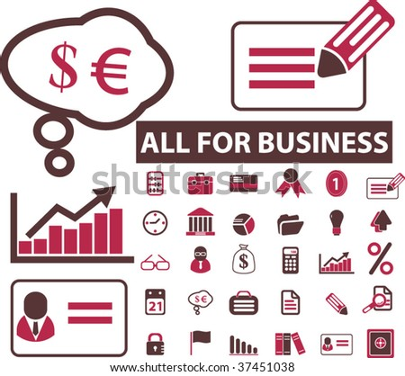 high-quality business icons. vector
