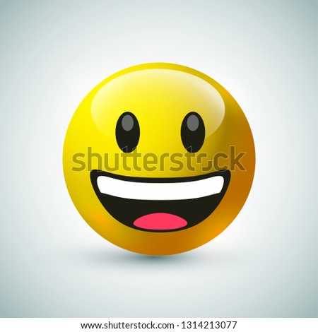 emoji emotion face with chat bubble message - Download Free Vector