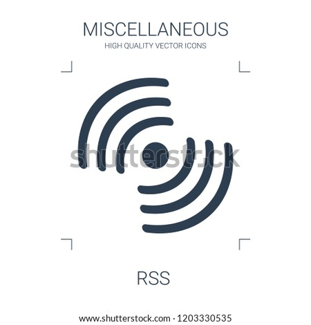 high quality filled rss icon on white background. from miscellaneous collection flat trendy vector rss symbol. use for web and mobile