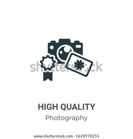 High quality glyph icon vector on white background. Flat vector high quality icon symbol sign from modern photography collection for mobile concept and web apps design.