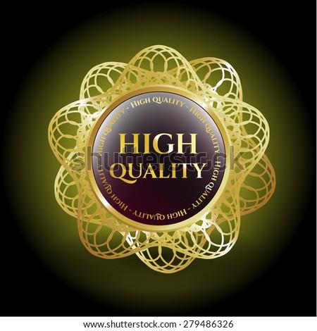 High quality gold shiny badge