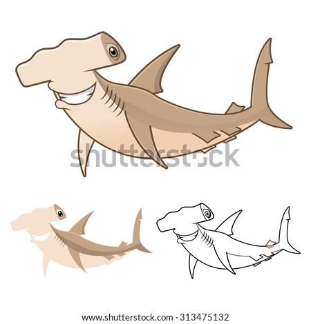 Hammerhead Shark clip art Free Vector / 4Vector