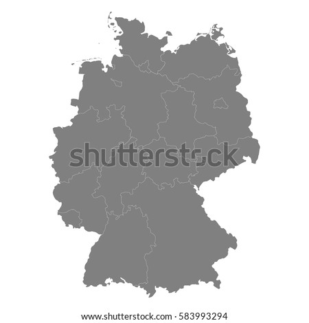 high quality map of germany