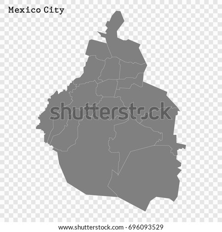 high quality map of mexico city