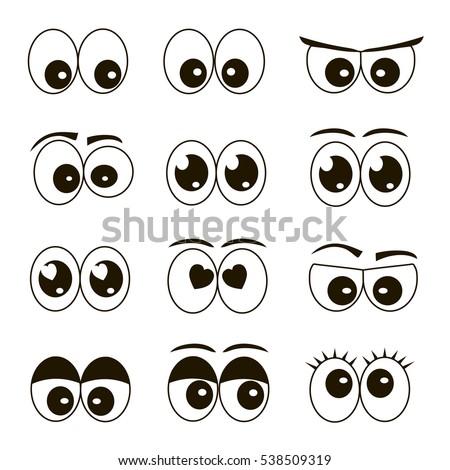stock-vector-high-quality-original-trendy-vector-set-of-cartoon-eyes