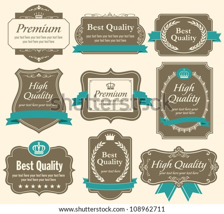 High quality & Premium labels set