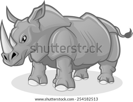 high quality rhinoceros vector