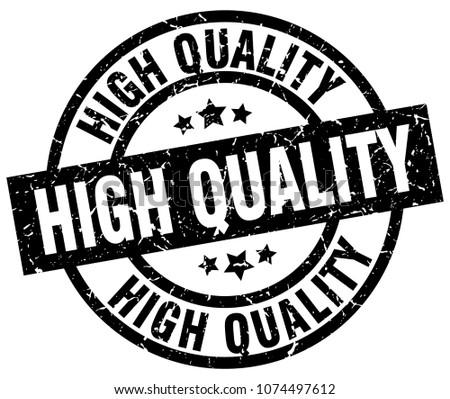 high quality round grunge black stamp