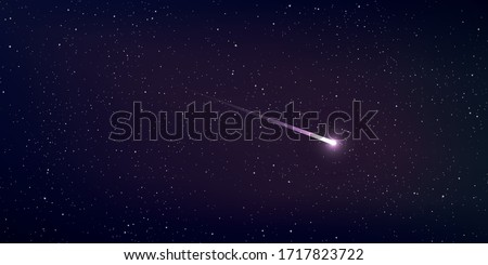 High quality star and comet universe background. Astrology horizontal backdrop. Stardust in galaxy. Vector Illustration.