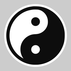 High quality vector illustration of the Yin and Yang Tao symbol icon - Original size official version