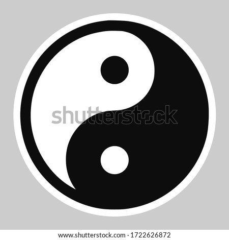 High quality vector illustration of the Yin and Yang Tao symbol icon - Original size official version Stock photo ©