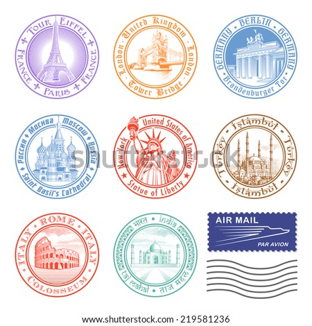 high quality vector stamps of...