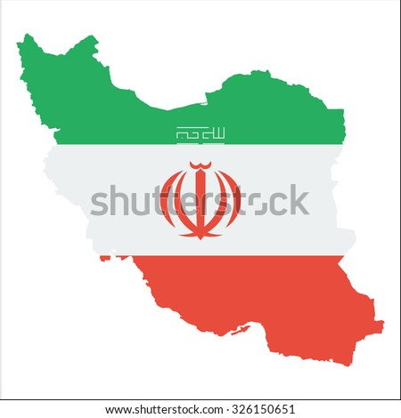 high resolution iran map with