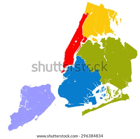 New York City Map Download Free Vector Art Stock Graphics Images - Map of ny city