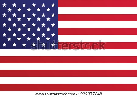 high resolution United States flag vector. EPS10