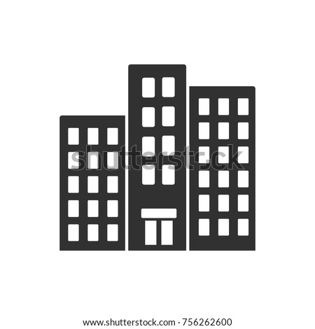 High-rise building. monochrome icon