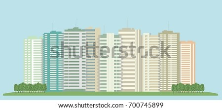 high rise buildings of the city