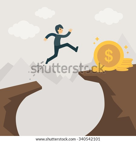High Risk High Returns. Investment illustration concept.