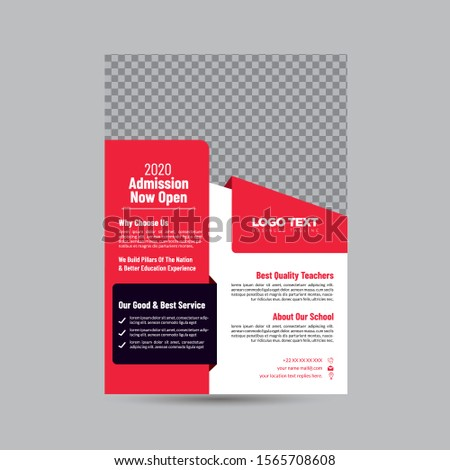 High School Education Flyer, Business Flyers Vector Design,