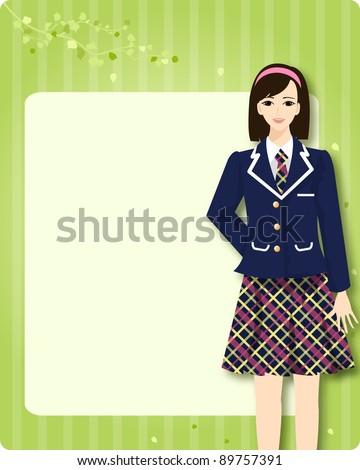 high school student - stock vector
