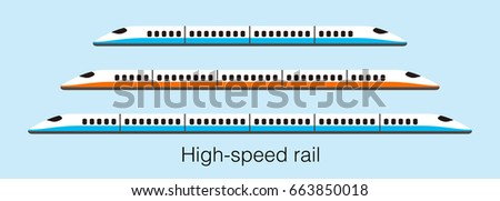 high speed bullet train coming