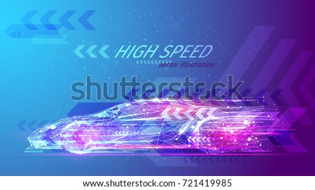 high speed concept sport car