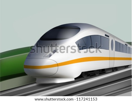 High Speed Expres Train Landscape