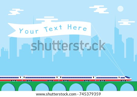 high speed passenger train with