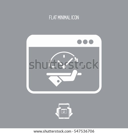 High speed performances computer online - Vector flat icon