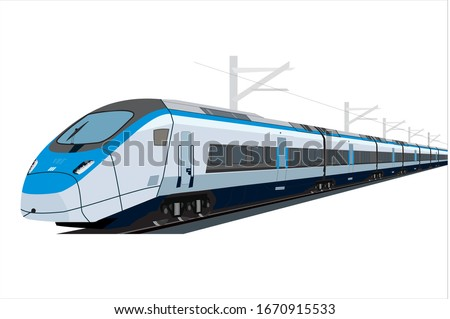 High Speed Train, Metro Vector, Railway Foto stock ©