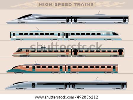 high speed trains unique design