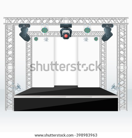 high stage metal truss with