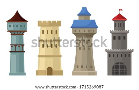 high stone towers with
