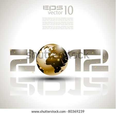 High tech and technology style 2012 happy new year celebration background for your posters flyers and business presentations