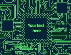 High tech circuit board vector background